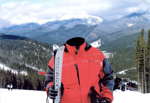 Шаблон для фотошопа катание на лыжах